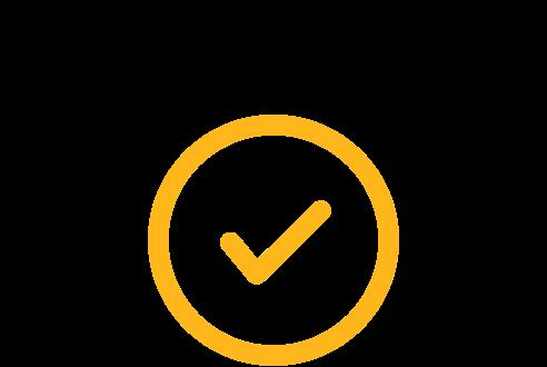 Glow tick icon
