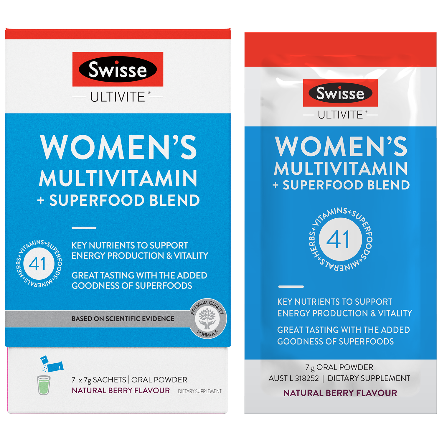 Womens Ultivite Multi + Superfood Blend 7 Sachets
