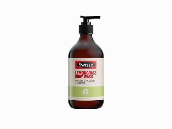 Swisse skincare body lemongrass body wash 500ml Pump product shot