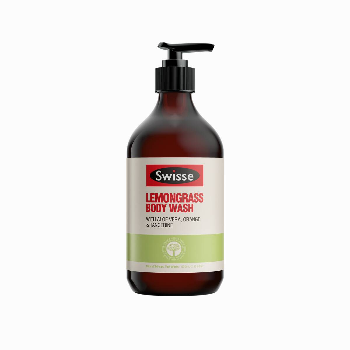Swisse skincare body lemongrass body wash 500ml Pump product shot