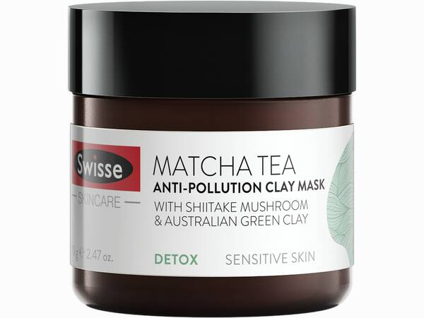 Swisse skincare face matcha tea face mask