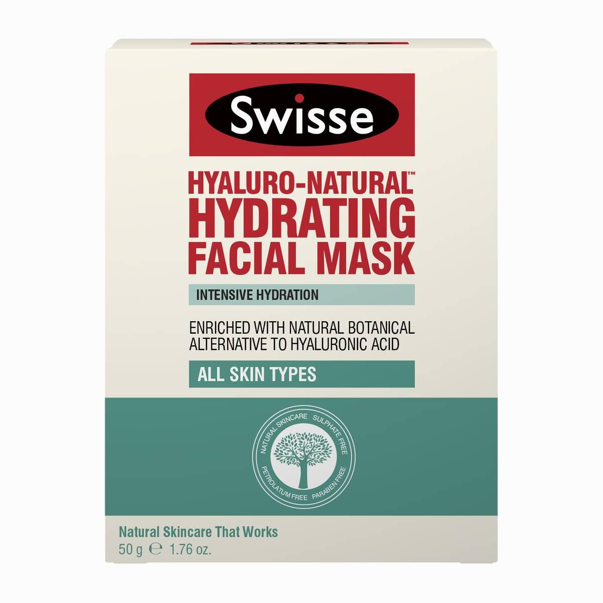 Swisse Hyaluro-Natural Hydrating facial mask carton