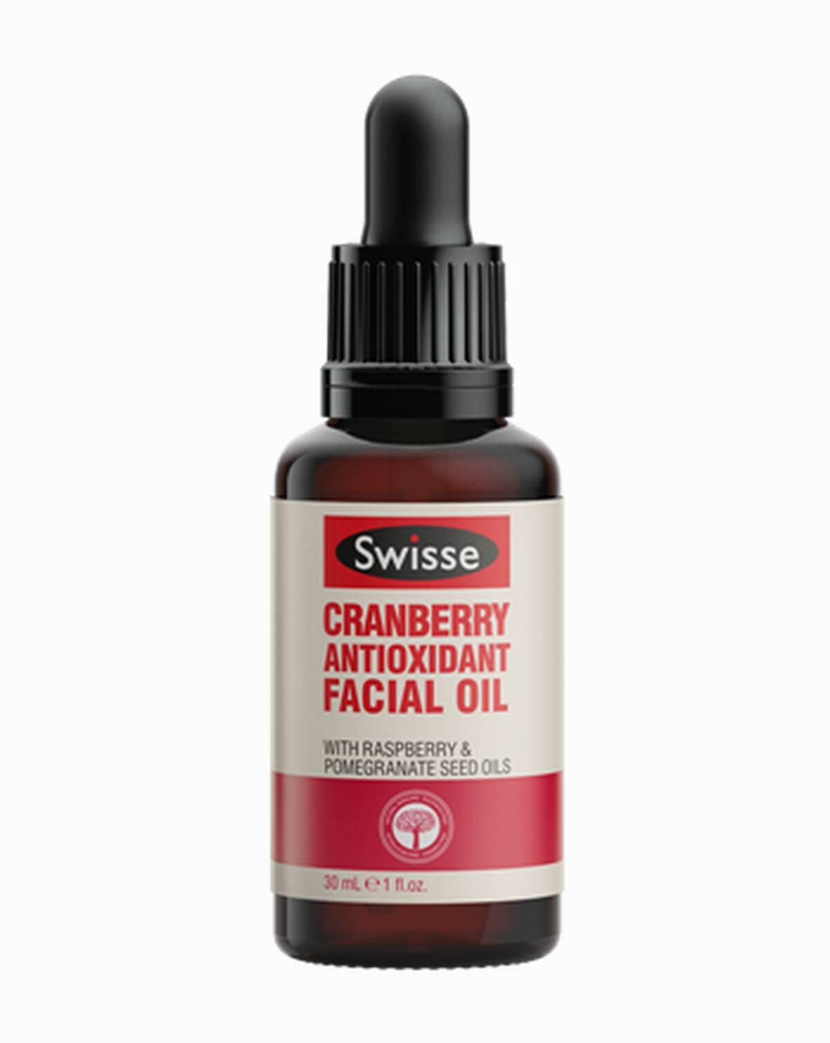 Swisse skincare oils Cranberry Antioxidant Oil dropper product shot
