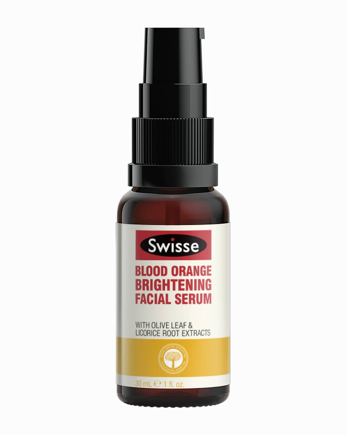 Swisse skincare serums Blood Orange Serum Pump product shot